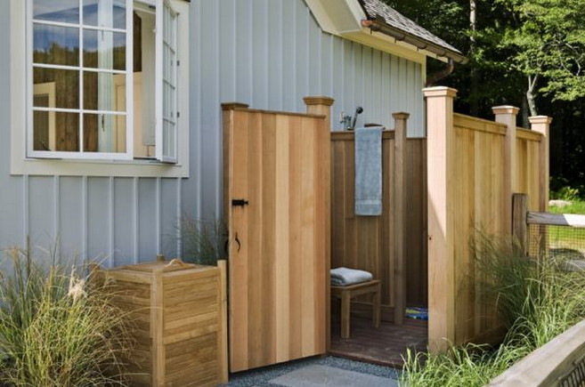 outdoor shower enclosure plans interesting ideas for home. Black Bedroom Furniture Sets. Home Design Ideas