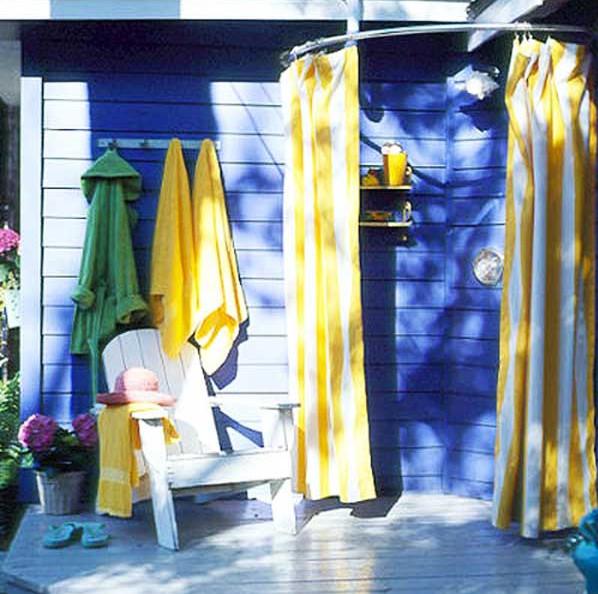 Outdoor shower Curtain Ideas