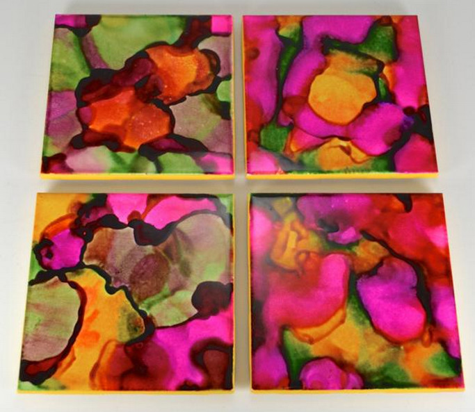 Painting Ceramic Tiles Craft | Interesting Ideas for Home