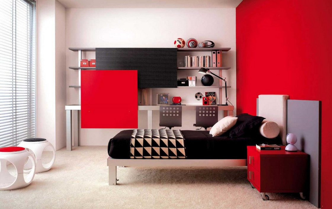 Red and Black Wall Painting5