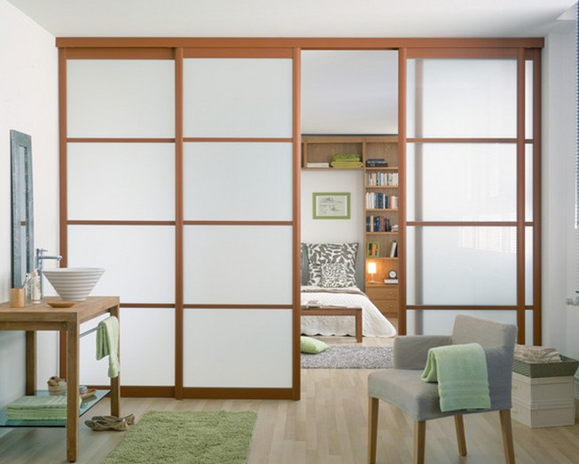 Sliding Glass Panels Room Dividers Interior Sliding Doors