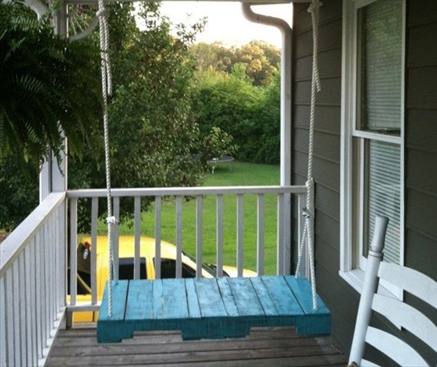 Wooden Front Porch Swing 2