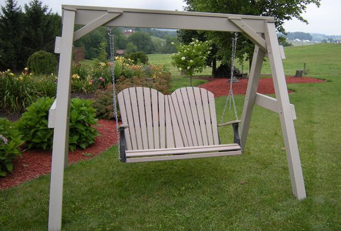 Wooden Front Porch Swing 4