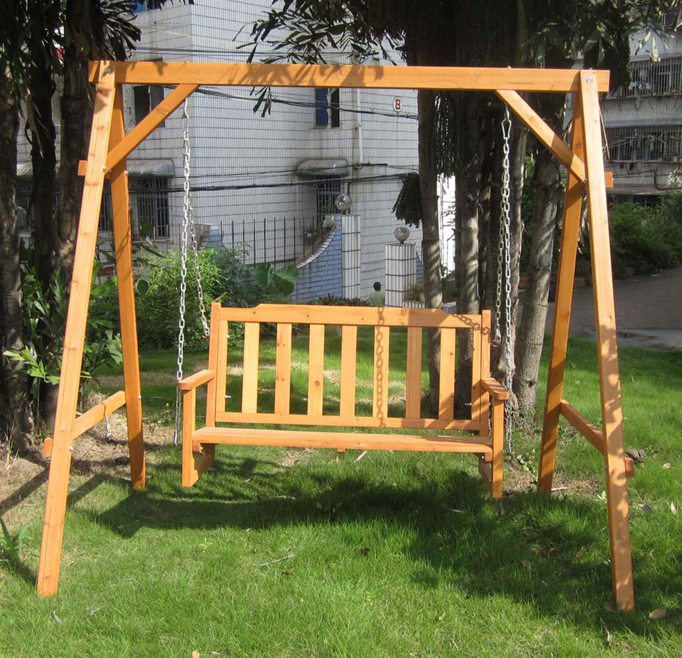 Wooden Front Porch Swing 5