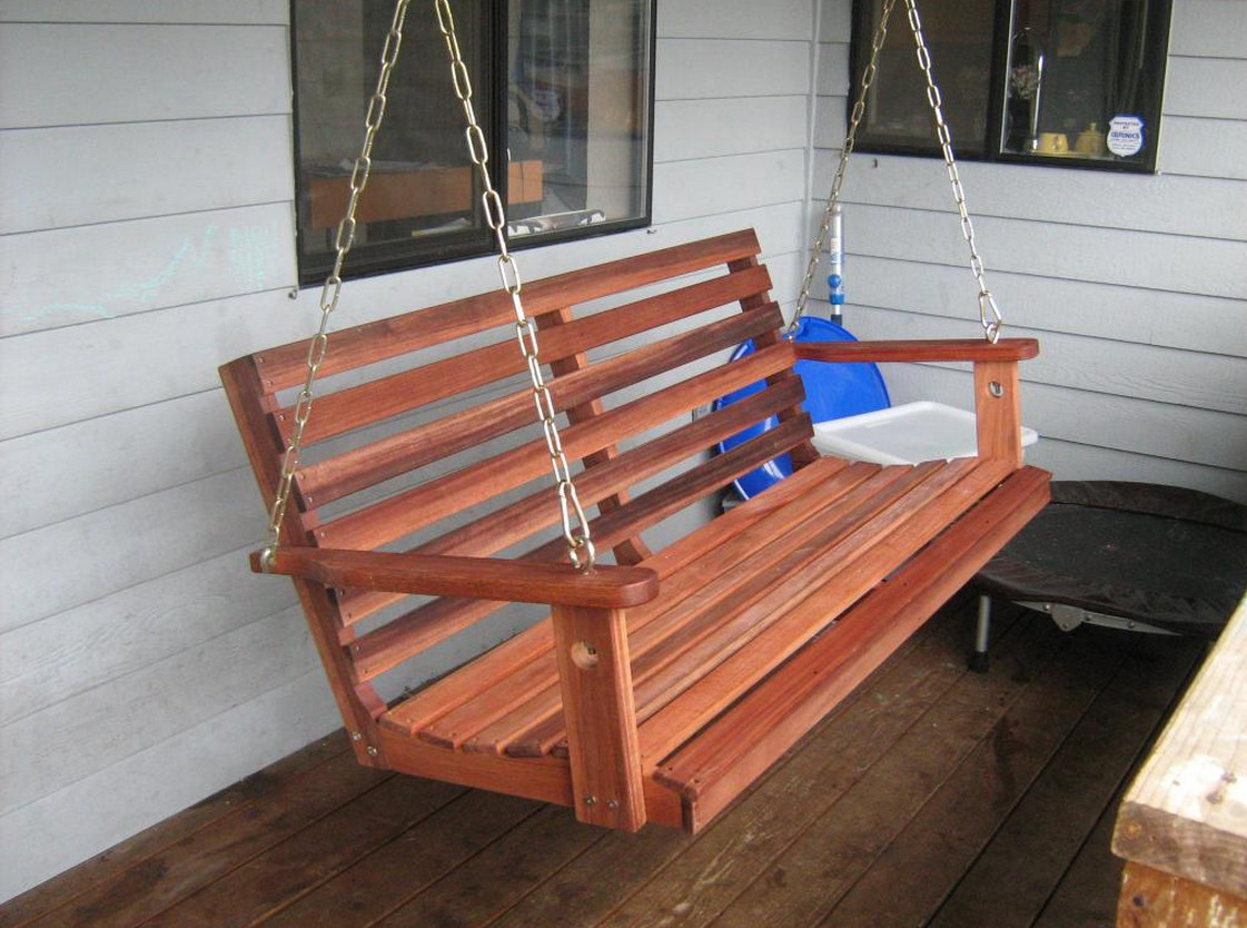 Wooden Front Porch Swing 6