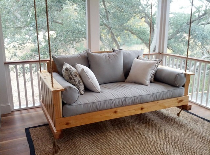 Wooden Front Porch Swing 7