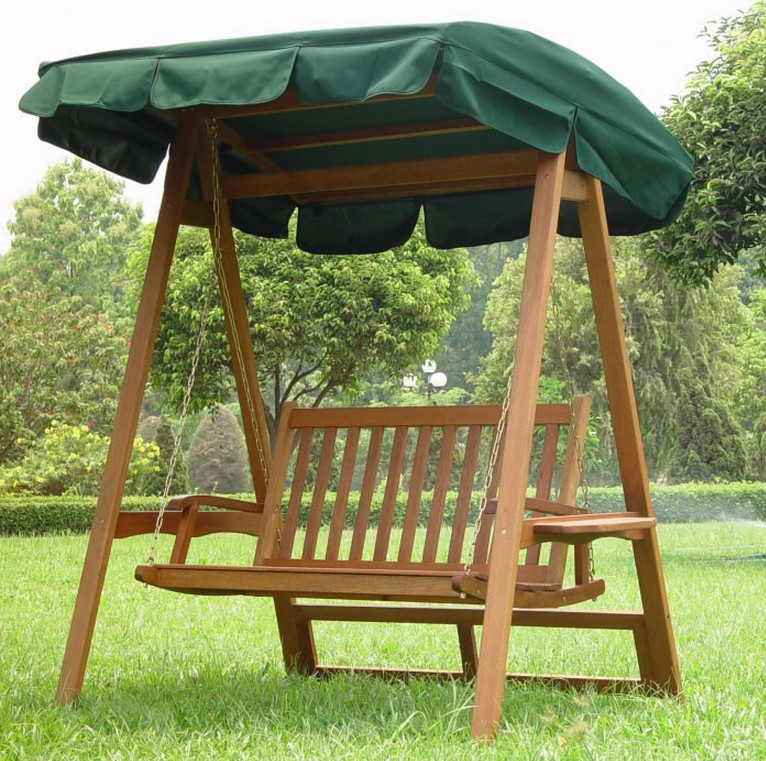 Wooden Front Porch Swing