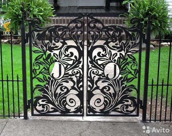 decorative iron garden gates 2