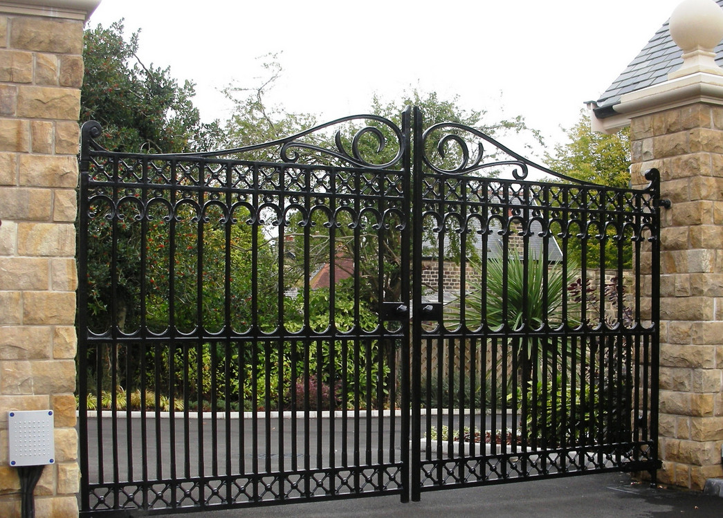 decorative iron garden gates