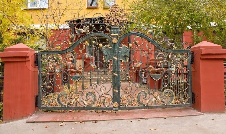 decorative metal gates modern 3