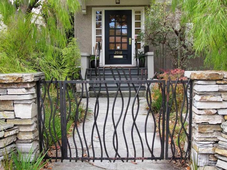 decorative metal gates modern